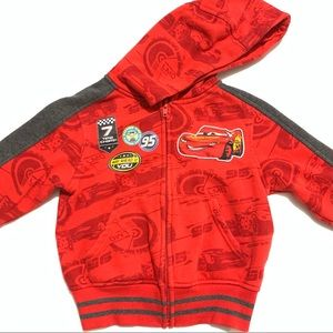 🥳 4/$30 | Disney Cars Red Sweater Zip Up Sweater